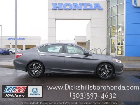Certified Pre-Owned 2017 Honda Accord Sedan Sport w/ Honda Sensing